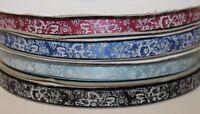 Vintage flower print satin ribbon cake/gift decorating arts and crafts ribbon