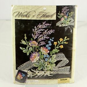Leisure Arts Works of Heart Counted Cross Stitch Kit FLORAL BOUQUET #114513