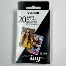 Canon Zink Photo Paper Pack, 20 sheets NEW/Unopened