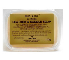Gold Label 100 GM Saddle Soap & Glycerin Leather Horse Care Grooming Shoe Boots
