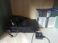 Sony PlayStation 2 Schwarz Spielekonsole + Zubehörpaket und vielen spielen