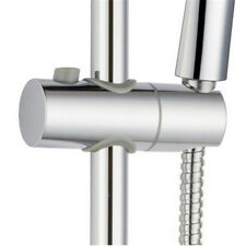 ABS Chrome Shower Rail Head Slider Holder Base Bracket Clamp Adjustable Bar Kit