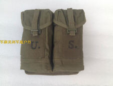 U.S. Army Style Two Cells Canvas Cartridge Magazine Pouch Packet Bag - Us003