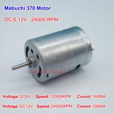 Mabuchi 370 Mute Motor DC6V-12V 24000RPM High Speed Mini Motor For Toy DIY Parts