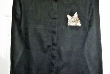 Cat in Shirt Pocket-Super Cute-Black Shirt-Spiegel 4U-Ladies Size S