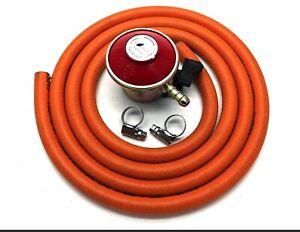 Propane Patio Gas Regulator 27mm and 2mt Hose And 2 Hose Clips Calor Gas