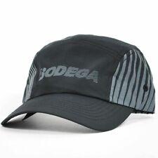 BODEGA Running 5 Panel Polyester Camp Hat Black Grey Adjustable Cap