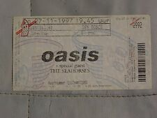 OASIS SEAHORSES Den Bosch Holland unused complete Ticket stub 27 November 1997