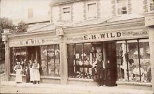 Newbury posted E.H.Wild, Hosier, Outfitter, Draper & Milliner. Shop & Staff.