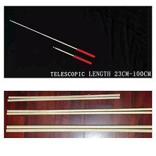 2 Pieces Belly Dance Costume Isis Wings hardwood dowel sticks, telescopic stick.