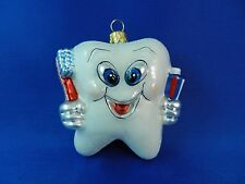 First Tooth Fairy Tale Dentist Blown Glass Christmas Tree Ornament Poland 011142
