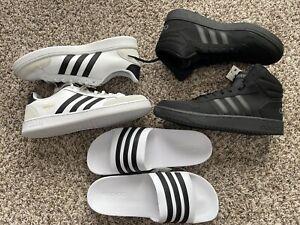 Lot 3 Adidas Shoes & Sandal Grand Court SE HOOPS 2.0 Adilette Slides ALL Sz.13