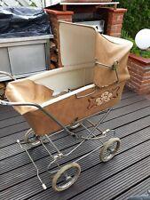 Kinderwagen Orgienal 60-70er Jahre Vintage Oldtimer ganz leichte  Leder.
