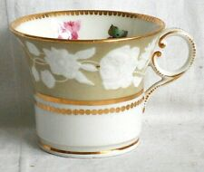 EARLY C19TH SPODE HAND PAINTED  BUCKET CAN WITH RELIEF MOULDED DECORATION