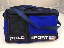 Vtg 90s Polo Sport Ralph Lauren Travel Duffel Strap Gym Bag Spell Out Blue  Nylon 5e44a55d078b9
