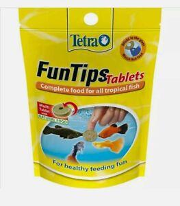 Tetra TROPICAL FUNTIPS TABLETS Aquarium Fish Fun Tips Healthy Treats Treat Food