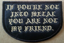 Heavy Metal Embroidered patch True Power Traditional