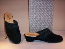 Ciabatte pantofole comode Europen donna slippers chiuse pelle camoscio nere n 39