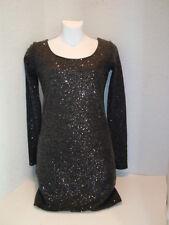 Buffalo New Womens David Bitton Shine Gray Sweater Dress XS TP