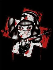 NEW Steady Clothing Nursin' It Black T-Shirt Gothic Horror Punk Nurse S Made USA