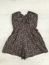 TOPSHOP DITSY FLORAL STRETCH COTTON BONED STRAPLESS PLAYSUIT SIZE 8