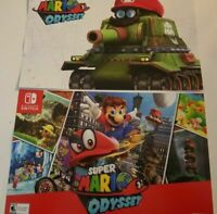 """Brand New Super Mario Odyssey 11""""x17"""" Double Sided Poster Nintendo Switch Rare"""