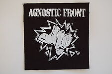 "Agnostic Front Cloth Patch Sew On Badge Hardcore Punk Rock Approx. 4""X4"" (CP87)"