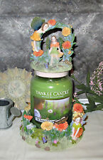 DAISY FAIRIES CANDLE TOPPER & BASE. WITH DAISIES & BUTTERFLIES -NEW IN BOX-
