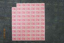 1909 ALASKA YUKON PACIFIC U.S. POSTAGE STAMPS (69) PIECE SHEET 2c UNUSED