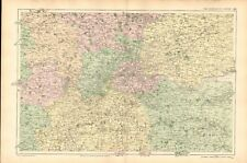 1906 LARGE MAP-BACON  - ENVIRONS OF LONDON