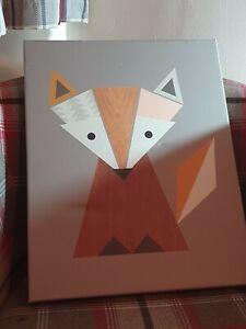 Canvas Scandinavian Geometrical Fox Scandi Art Nordic Decor Art Group 40 x 50cm