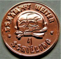 GERMAN WW2 COLLECTORS COPPER COIN SS 1 SCHILLING KANTINEGELD