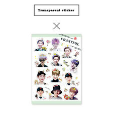 KPOP EXO THE WAR Chanyeol PVC Transparent DIY Stickers for Luggage Phone
