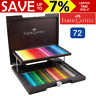 NEW 72x Faber-Castell Polychromos Colour Colouring Pencils Wooden Case Box Set
