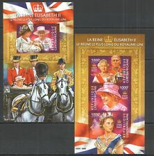 CA324 2015 CENTRAL AFRICA ROYALITY FAMOUS PEOPLE QUEEN ELIZABETH II KB+BL MNH
