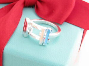 Tiffany & Co Silver Gehry Axis Ring Band Size 8