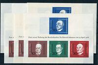 Bund Block 4 ** postfrisch (6 Stück) BRD Block Sammlung Adenauer Todestag MNH