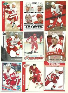 9-Card Detroit Red Wings Lot