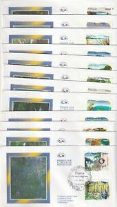 LOT DE 12 ENVELOPPES  1er JOUR- FDC : 2009 FLORE DE NOS REGIONS
