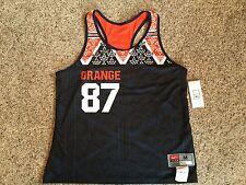 Nike Women's Syracuse Orange Racer Back Track Training Tank Top Shirt Running M