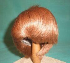 Echthaarperücke rotblond Kurzhaar 25/27/doll wig/human hair strawb. bl. short