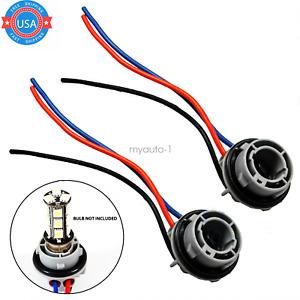 2PCS 1157 2057 2357 2357A LED Stop Turn Light Socket Harness Wire Pig Tail Plug