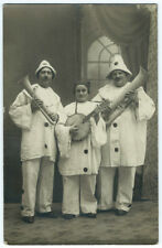photo carte cpa - Clowns musiciens instrument à vent vers 1925 Montreuil Paris