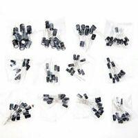 120Stück 1uF~470uF 10-50V 12 Werte Elektrolyt Kondensator Sortiment Set Kit