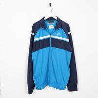 Vintage KAPPA Small Logo Tracksuit Jacket Top Blue | XL
