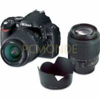 Nikon D40 DSLR Camera 18-55mm 3.5-5.6G ED II AF-S DX+AF-S 55-200mm 4-5.6G ED DX