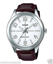 Casio MTP-VX01L-7B Men's Standard Leather Band Big Case Black Dial Watch