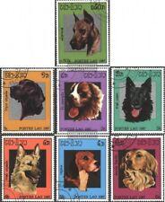 Laos 981-987 (kompl.Ausg.) gestempelt 1987 Hunde