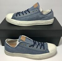 $125 Converse Mens Size 10 Vegan Collectors CT Post OX Blue Shoes Sneakers New
