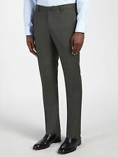 Hackett LONDON Super 120S lana Principe di Galles Check pantaloni taglia 32S 32W 30L